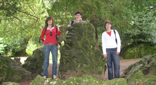 American and Canadian students in Ireland during their summer courses